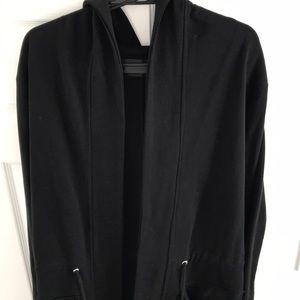 Men drape/cape side pockets,front strings,fishtail